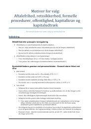 Motiver for valg: Aftalefrihed, retssikkerhed, formelle ... - JuraWiki