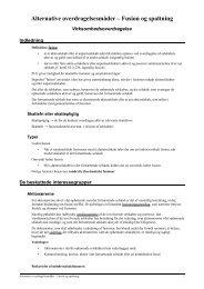 Alternative overdragelsesmåder – Fusion og spaltning - JuraWiki