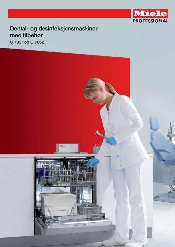 Dental- og desinfeksjonsmaskiner med tilbehør