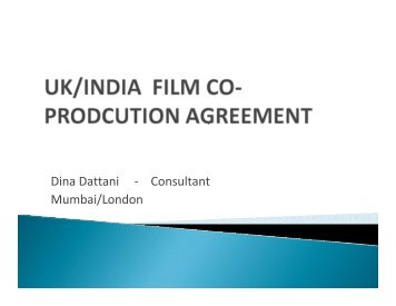 Dina Dattani - Consultant Mumbai/London - BFI