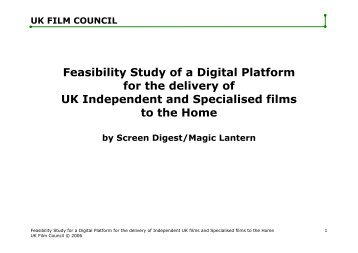 Feasibility Study of a Digital Platform for the delivery of UK ... - BFI