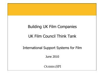 International Support Systems for Film - BFI