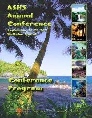 ASHS Annual Conference ASHS Annual Conference Conference