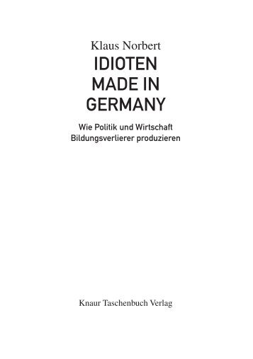 IDIOTEN MADE IN GERMANY