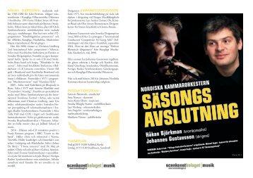 Läs programbladet för konserten (pdf) - Sveriges Radio