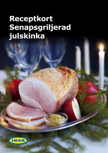 Receptkort Senapsgriljerad julskinka - Ikea