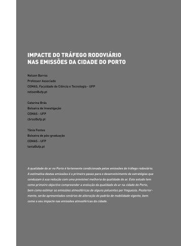 impacte do tráfego rodoviário nas emissões da cidade do porto