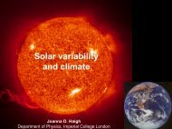 Solar variability and climate - ESA Space Weather Web Server