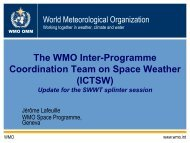 The WMO Inter-Programme Coordination Team on Space Weather