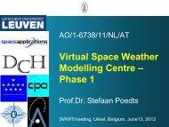 VSWMC Project - ESA Space Weather Web Server