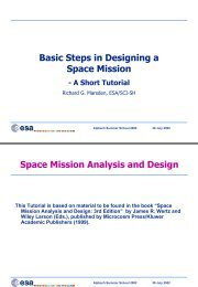 Basic Steps in Designing Space Missions - ESA Space Weather ...