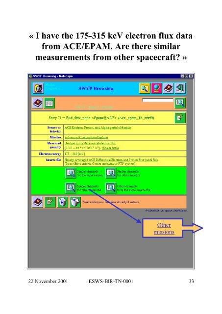 Space Weather Prototype System ESWS-BIR-TN-0001 - ESA Space ...