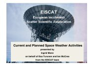 Current and Planned Space Weather Activities - ESA Space ...