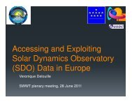 Data in Europe - ESA Space Weather Web Server