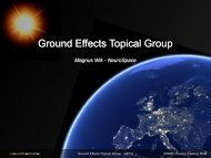 Ground Effects Topical Group - ESA Space Weather Web Server