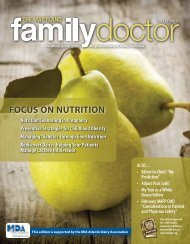 FOCUS ON NUTRITION - Maryland Academy of Family Physicians
