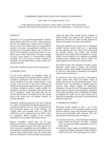 D. Heynderickx: The ESA SPace ENVironment ... - Wrmiss.org