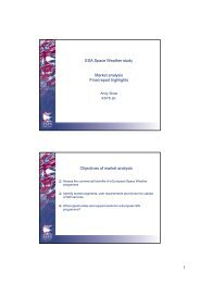 1 ESA Space Weather study Market analysis Final report highlights ...