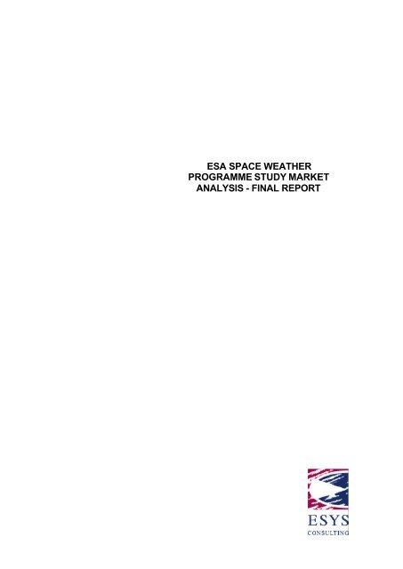 market analysis final report v1.1 - ESA Space Weather Web Server