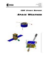 A copy of the final report can be downloaded here - ESA Space ...