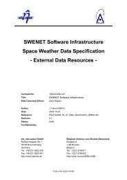 SWENET Software Infrastructure Space Weather Data Specification ...