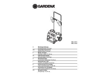 OM, Gardena, Mobile Hose 70 roll-up, Art 02641-20, Art 02642-20 ...