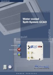 Water cooled Split-System GCAO