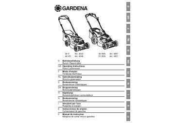 OM, Gardena, Benzine grasmaaier, Art 04044-20, Art 04046-20, Art ...