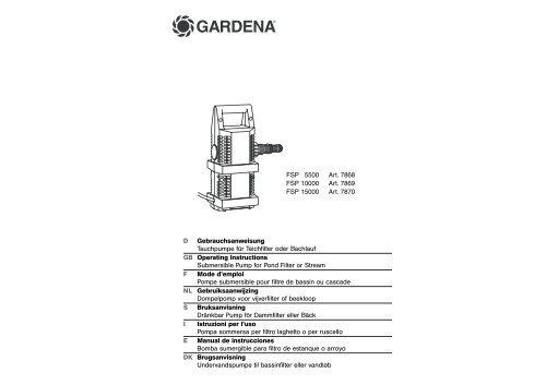 OM, Gardena, Submersible Pump for Pond Filter or Stream, Art ...