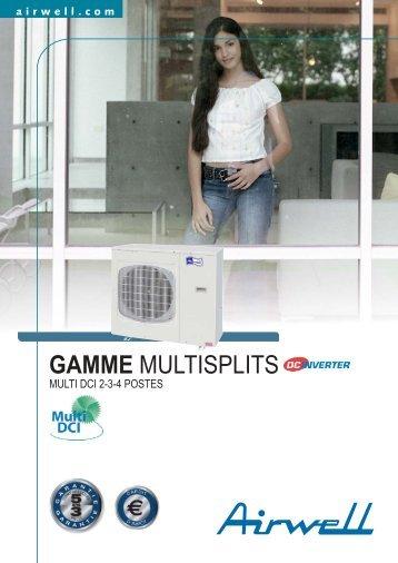 Gamme Multisplits Multi DCI 2-3-4 postes