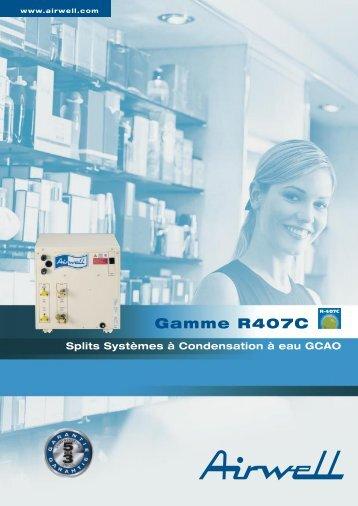 Gamme R407C Splits Sytèmes à condensation à eau - airwell web site