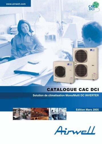 Gamme CAC DCI Solutions de climatisation Mono/Multi