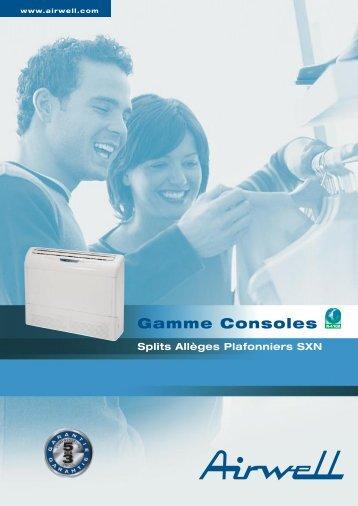 Gamme Console splits Allèges Plafonniers SXN