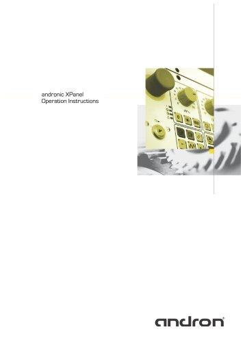 andronic XPanel operating manual (V 1.1.01) - andron GmbH