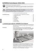 OM, Gardena, Kontrollpanel, Art 01283-20, Art 01284-20, 2011-01 - Page 2