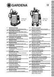 OM, Gardena, Lensepumpe for urent vann, Art 01802-20, Art 01787 ...