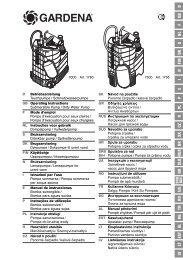 OM, Gardena, Lensepumpe for urent vann, Art 01780-20, Art 01795 ...