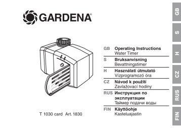 gardena t 1030 manual pdf