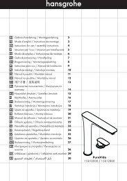 PuraVida دليل االستخدام / تعليمات التجميع AR ... - Hansgrohe