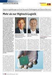 Mehr als nur Hightech-Logistik