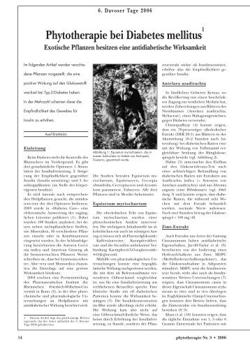 Phytotherapie bei Diabetes mellitus - Astral