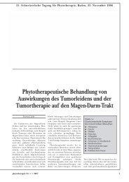 Phytotherapeutische Behandlung von Auswirkungen des ... - Astral