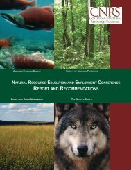 REPORT AND RECOMMENDATIONS - The Wildlife Society