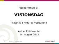 Visionsdag 2012 Aulum - Ældre Sagen