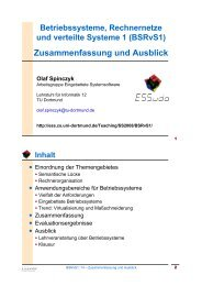 Zusammenfassung und Ausblick - TU Dortmund