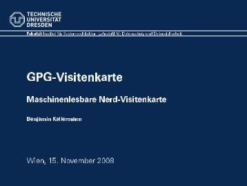 Vortrag über eine GPG-Visitenkarte - metalab