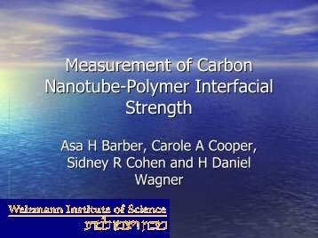 Measurement of Carbon Nanotube-Polymer Interfacial Strength