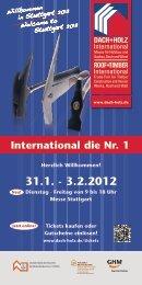 International die Nr. 1 - DACH+HOLZ International