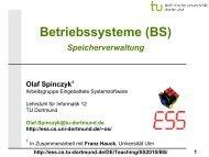 BS: 08 - Speicherverwaltung - TU Dortmund