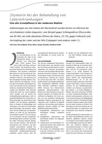 Silymarin bei der Behandlung von Lebererkrankungen - Astral